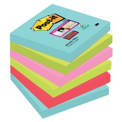 Memoblok 3M Post-it 654 Super Sticky 76x76mm Miami