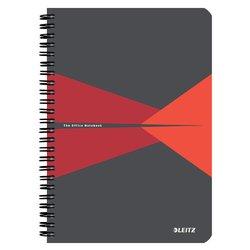Notitieboek Leitz Office A5 lijn karton rood