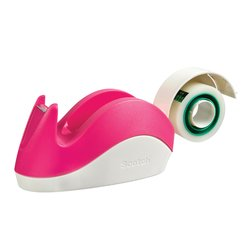 Plakbandhouder Scotch C29 konijn roze + 1rol magic tape 19mmx15m