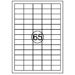 Etiket Quantore 38x21.2mm 6500stuks