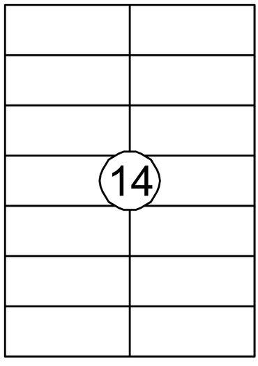 Etiket Quantore 105x42.4mm 1400stuks