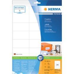 Etiket Herma 8638 70x36mm premium wit 240stuks