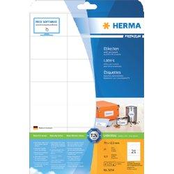 Etiket Herma 5054 70x42.3Mm premium wit 525stuks