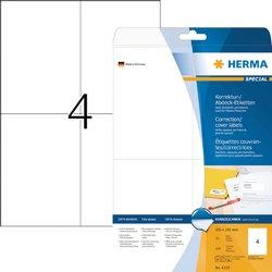 Etiket Herma 4229 105x148mm A6 correctie wit 100stuks