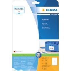 Etiket Herma 5065 210x297mm A4 premium wit 25stuks