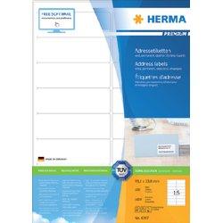 Etiket Herma 4267 99.1x33.8mm premium wit 1600stuks
