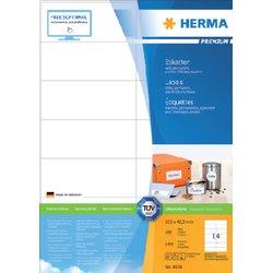 Etiket Herma 4674 105x42.3Mm premium wit 1400stuks