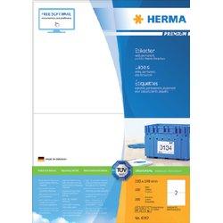 Etiket Herma 4282 210x148mm A5 premium wit 200stuks