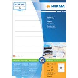 Etiket Herma 4606 38.1x21.2mm premium wit 13000stuks
