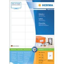 Etiket Herma 4614 66x33.8mm premium wit 4800stuks