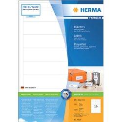 Etiket Herma 4619 97x33.8mm premium wit 3200stuks