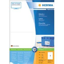Etiket Herma 4627 105x148mm A6 premium wit 800stuks