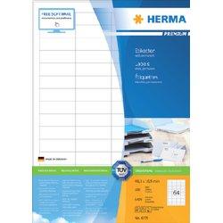 Etiket Herma 4271 48.3x16.9mm premium wit 6400stuks
