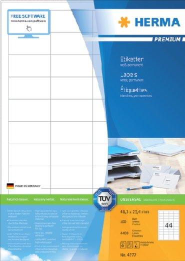 Etiket Herma 4272 48.3x25.4mm premium wit 4400stuks