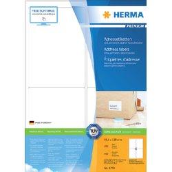 Etiket Herma 4250 99.1x139mm premium wit 400stuks