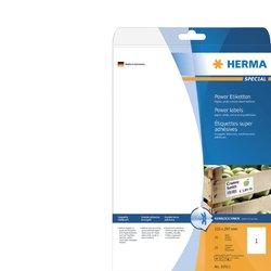 Etiket Herma Power 10911 210x297mm wit 25stuks