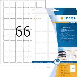 Etiket Herma 8831 25.4x25.4mm mat wit 1650stuks