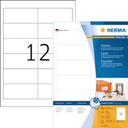 Etiket Herma 4816 96.5x42.3mm wit 1200stuks