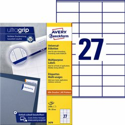 Etiket Avery Zweckform 3479 70x32mm wit 2700stuks