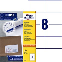 Etiket Avery Zweckform 3427 105x74mm wit 800stuks