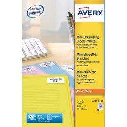 Etiket Avery L7656-25 46x11.1mm wit 2100stuks