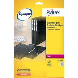 Etiket Avery L7170-25 134x11mm wit 600stuks