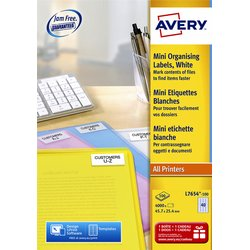 Etiket Avery L7654-100 45.7x25.4mm wit 4000stuks