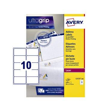 Etiket Avery L7173-100 99.1x57mm wit 1000stuks