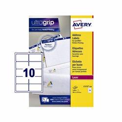 Etiket Avery L7173-250 99.1x57mm wit 2500stuks