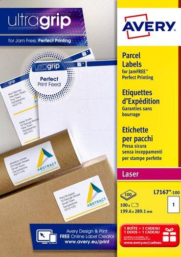 Etiket Avery L7167 199.6x289.1mm 100stuks wit