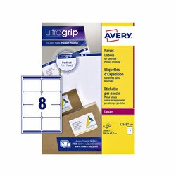 Etiket Avery L7165-250 99.1x67.7mm 2000stuks wit