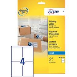 Etiket Avery J8169-10 99.1x139mm wit 40stuks