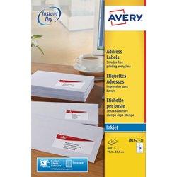 Etiket Avery J8162-25 99.1x33.9mm wit 400stuks