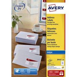 Etiket Avery J8162-100 99.1x33.9mm wit 1600stuks
