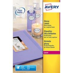 Etiket Avery L7767-40 210x297mm A4 hoogglans wit 40stuks