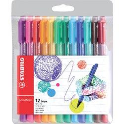 Viltstift STABILO pointmax 488 etui à 12 kleuren