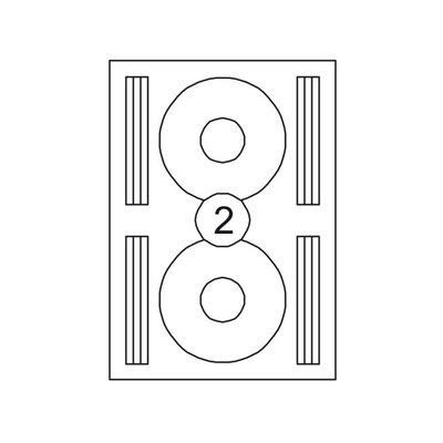 Etiketten voor cd's en dvd's