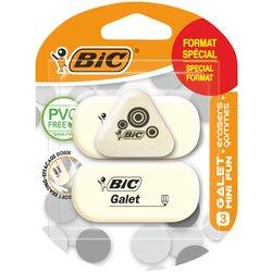 Gum Bic Galet blister à 2 stuks + 1 gratis