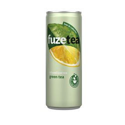 Frisdrank FuzeTea Green blikje 0.25l IJsthee laag in suikers