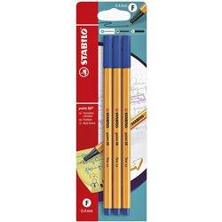 Fineliner STABILO Point 88 blister à 3 stuks blauw