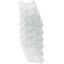 Folderhouder Exacompta wand A4 6-vaks staand helder transparant
