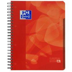 Projectboek Oxford School A4+ 4-gaats ruit 5mm 120vel rood