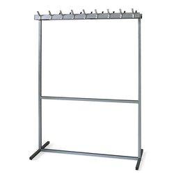 Garderoberek dubbelzijdig aluminiumgrijs