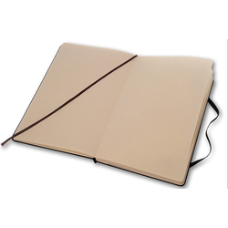 Notebook moleskine large 13x21cm dotted zw. hardcover