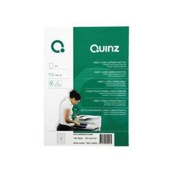 Etiket quinz 14/vel 105x42.4 mm wit