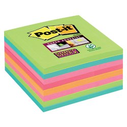 Memoblok 3M Post-it 654 Super Sticky 76x76mm rainbow 360 vel
