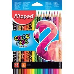 Kleurpotloden Maped doos 18stuks assorti