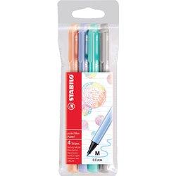 Viltstift STABILO pointmax 488 etui à 4 kleuren