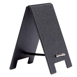 Krijtbord securit mini tafel set 5 stuks zwart