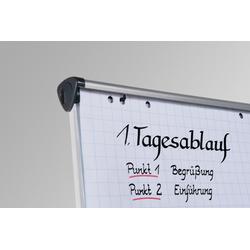 Flipoverpapier geruit Houtvrij, wit Chloorvrij, gebleekt papier Papiermaat: 98 x 65 cm 80 g/m² 5 x blokken van 20 vel